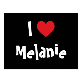 I Liebe Melanie Postkarte