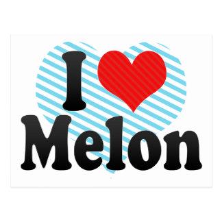 I Liebe-Melone Postkarte