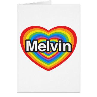 I Liebe Melvin. Liebe I Sie Melvin. Herz Karte