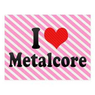 I Liebe Metalcore Postkarte