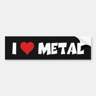 I Liebe-Metall Autoaufkleber
