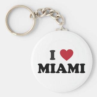 I Liebe Miami Florida Standard Runder Schlüsselanhänger