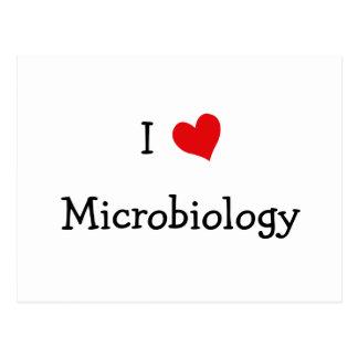 I Liebe-Mikrobiologie Postkarte
