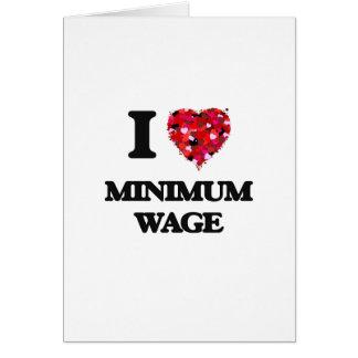 I Liebe-Mindestlohn Grußkarte