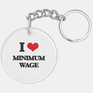 I Liebe-Mindestlohn Schlüsselanhänger