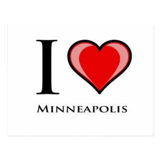 I Liebe Minneapolis Postkarte