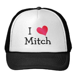 I Liebe Mitch Baseballmützen