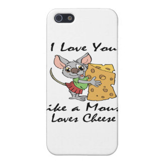 I Liebe mögen Sie ein MäuseLiebe-Käseschwarzes Schutzhülle Fürs iPhone 5