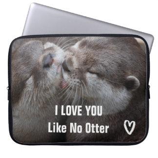 I Liebe mögen Sie kein Otter-niedliches Foto Laptopschutzhülle