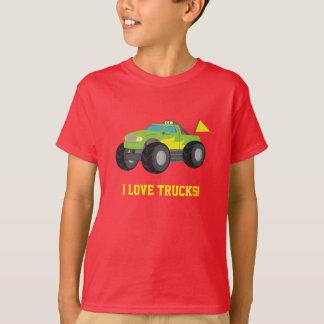 I Liebe-Monster-LKW für Racer-Jungen T-Shirt