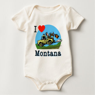 I Liebe-Montana-Land-Taxi Baby Strampler