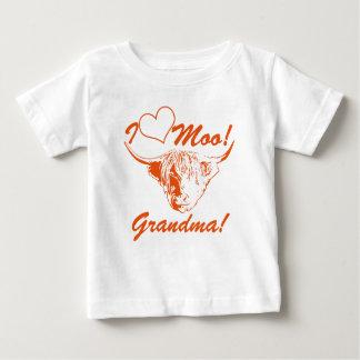 I Liebe-MOO-Großmutter! Personalisierte Baby T-shirt