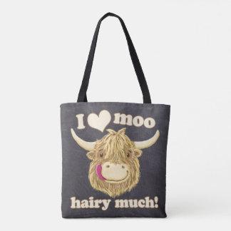 I Liebe-MOO haarig viel! Schottische Hochland-Kuh Tasche