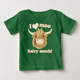 I Liebe-MOO-Hochland-Kuh Baby T-shirt