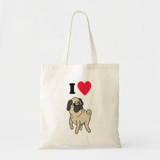 I Liebe-Mops-Taschen-Tasche! Budget Stoffbeutel