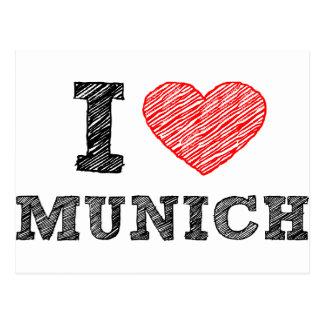 I Liebe München Postkarte
