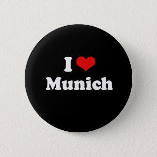 I Liebe-München-T-Shirt Weiß-T-Shirt Runder Button 5,1 Cm