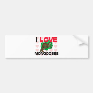 I Liebe-Mungos Autoaufkleber