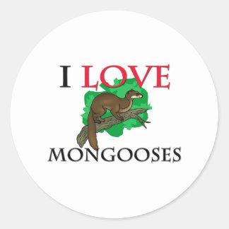 I Liebe-Mungos Runder Aufkleber