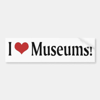 I Liebe-Museen! Autoaufkleber