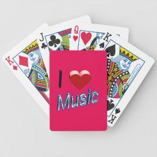 I Liebe-Musik 2 Bicycle Spielkarten