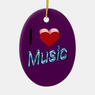 I Liebe-Musik 2 Keramik Ornament