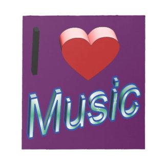I Liebe-Musik 2 Notizblock