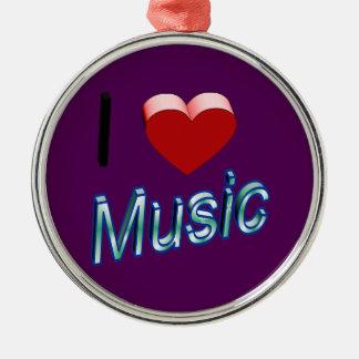I Liebe-Musik 2 Silbernes Ornament