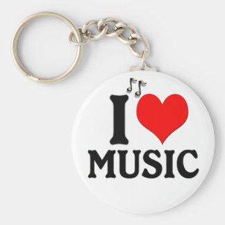 I Liebe-Musik Keychain Schlüsselband