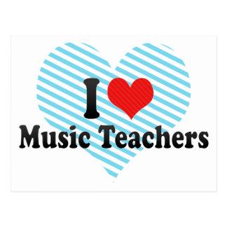 I Liebe-Musik-Lehrer Postkarten
