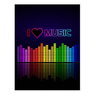 I Liebe-Musik mit Equilizer Postkarte