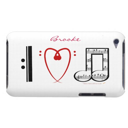 I Liebe-Musik-Musik-Liebhaber-Name-Haut iPod Touch Cover