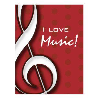 I Liebe-Musik-Postkarte