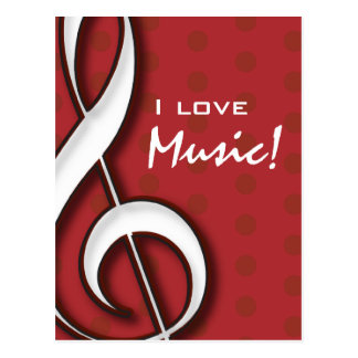 I Liebe-Musik-Postkarte Postkarte