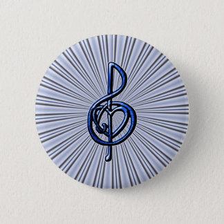 I Liebe-Musik Runder Button 5,7 Cm