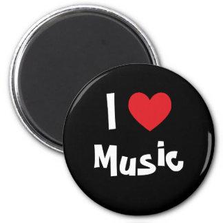 I Liebe-Musik Runder Magnet 5,7 Cm