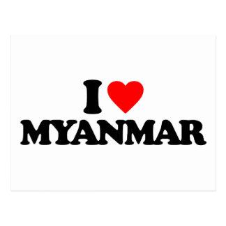I LIEBE MYANMAR POSTKARTE