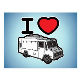 I Liebe-Nahrungsmittel-LKWs! Postkarte