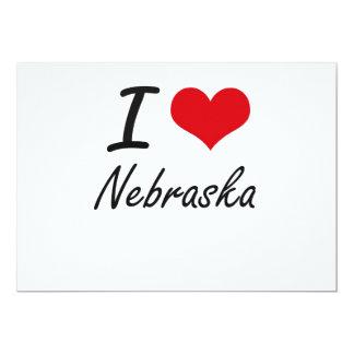 I Liebe Nebraska Karte