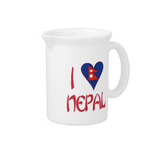 I Liebe Nepal Getränke Pitcher