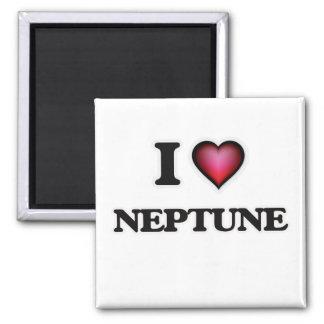 I Liebe Neptun Quadratischer Magnet
