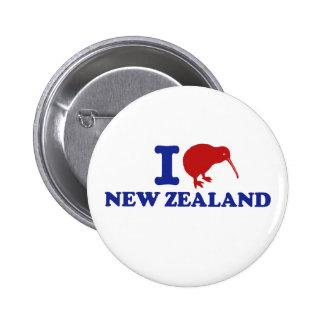 I Liebe Neuseeland Anstecknadelbutton