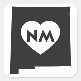 I Liebe-New-Mexiko Staats-Quadrat-Aufkleber Quadratischer Aufkleber