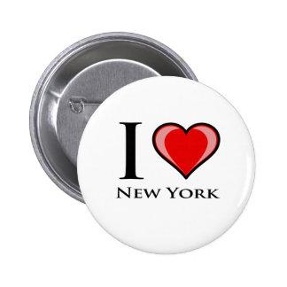 I Liebe New York Anstecknadelbuttons