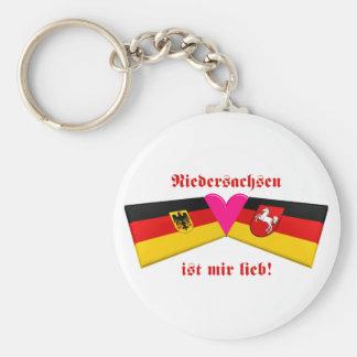 I Liebe-Niedersachsen ist-MIR lieb Standard Runder Schlüsselanhänger