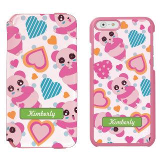 I Liebe-niedliche Pandas Incipio Watson™ iPhone 6 Geldbörsen Hülle