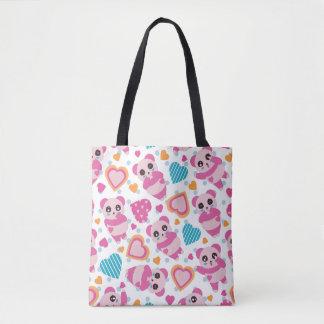 I Liebe-niedliche Pandas Tasche