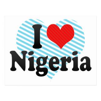 I Liebe Nigeria Postkarte
