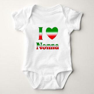 I Liebe Nonna (italienische Großmutter) Baby Strampler