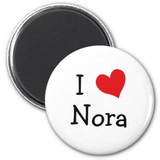 I Liebe Nora Runder Magnet 5,1 Cm